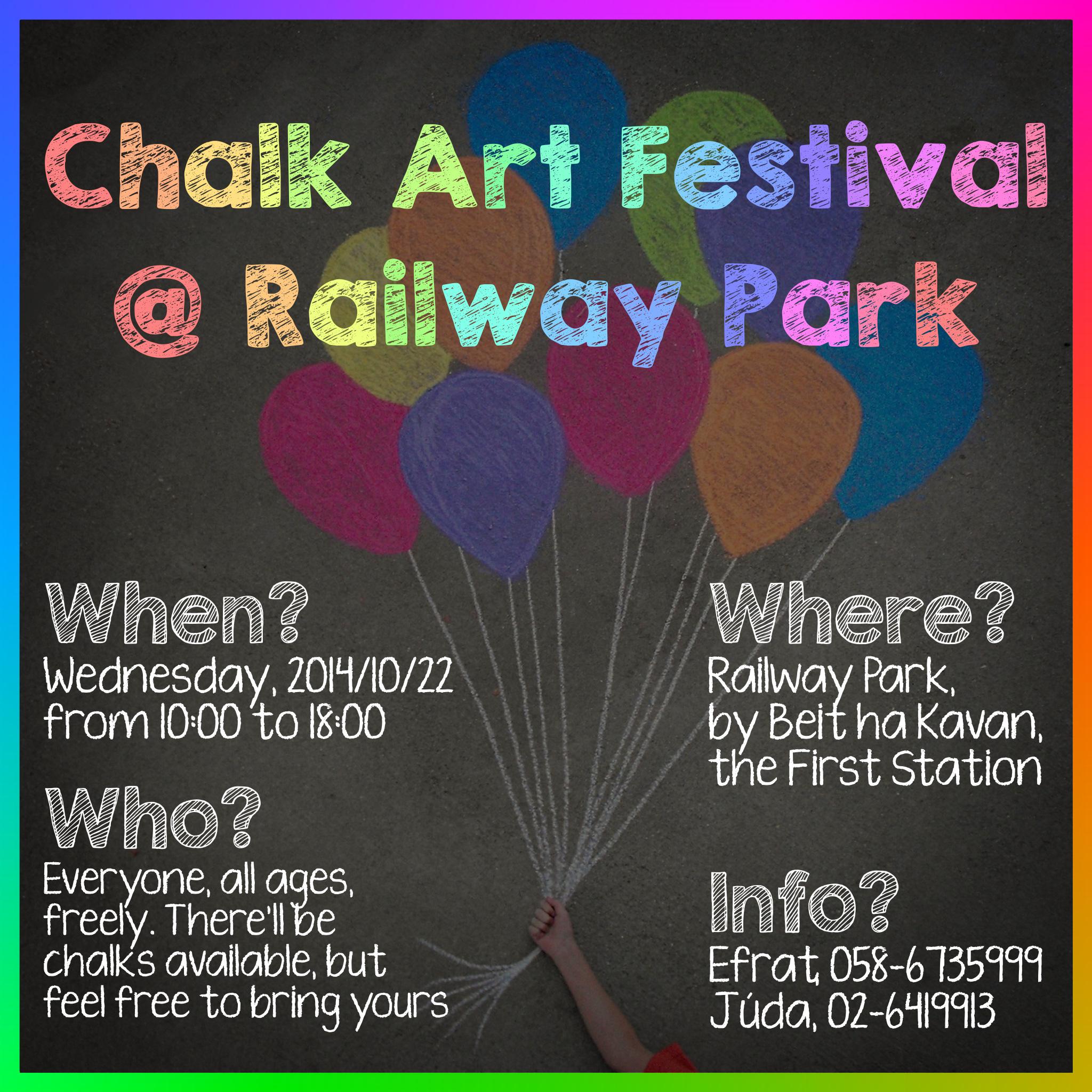 The First Jerusalem Chalk Art Festival