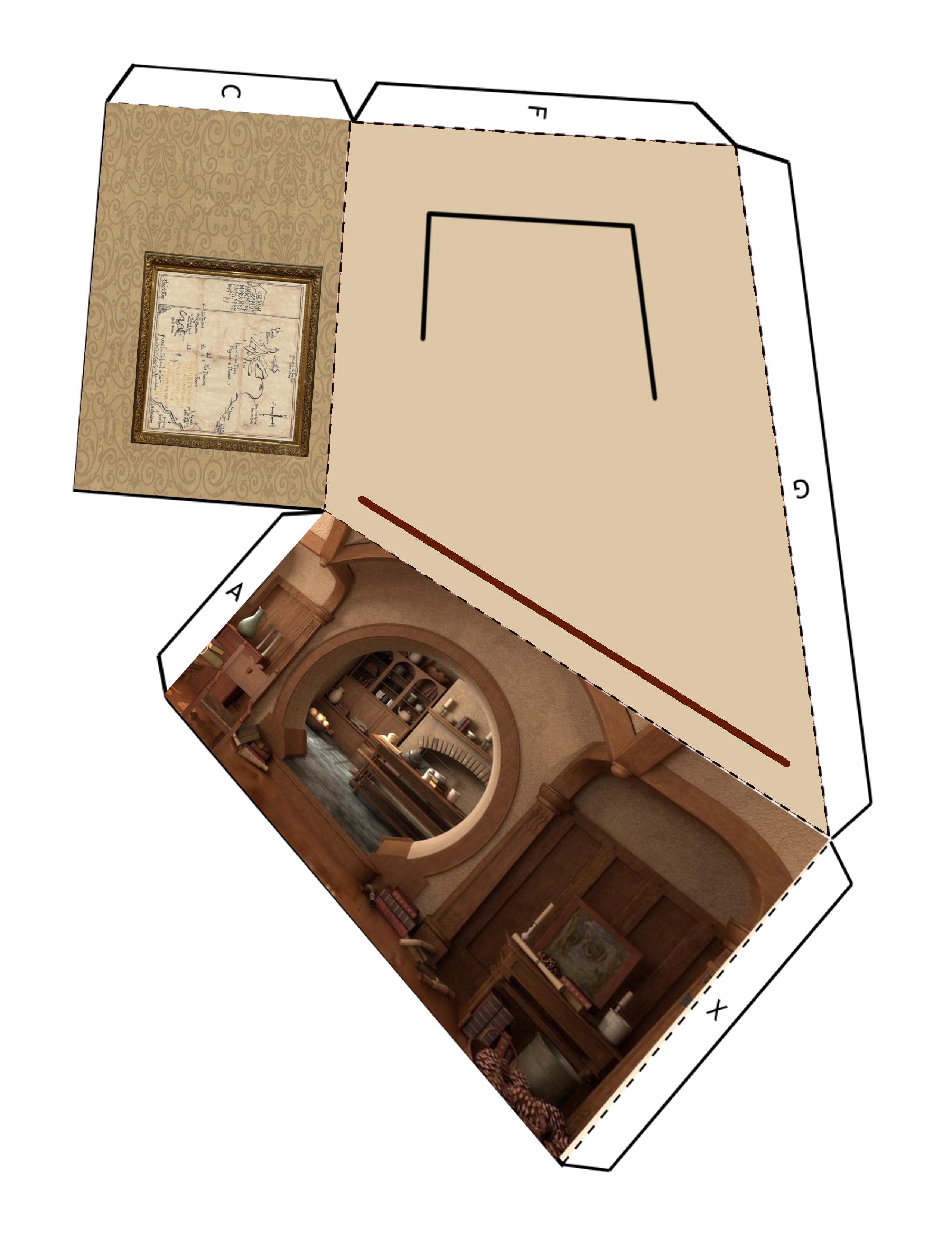 צד שמאל של חדר איימס הוביטי, גרסת ג׳ון האוו