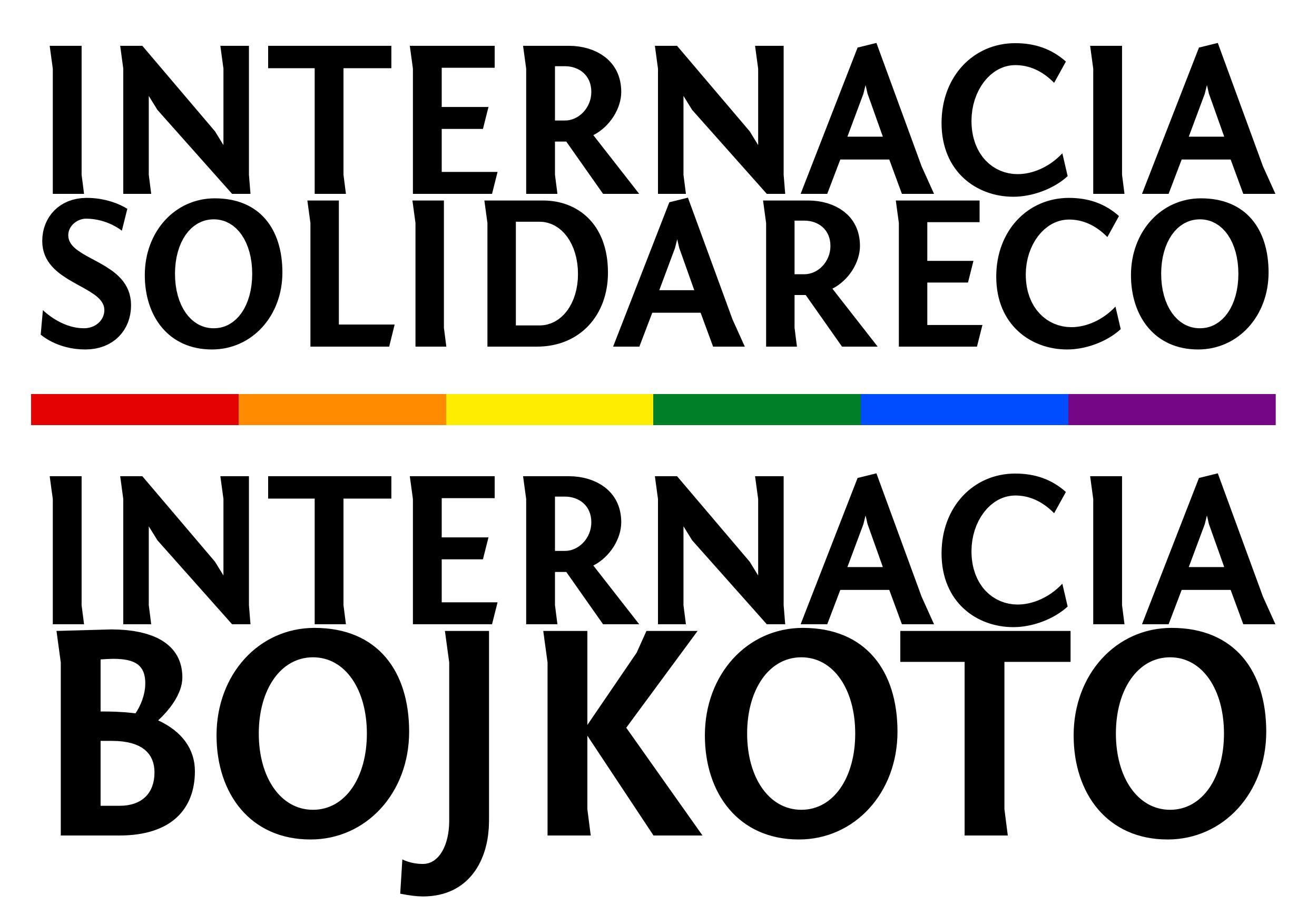 Internacia solidareco— Internacia Bojkoto